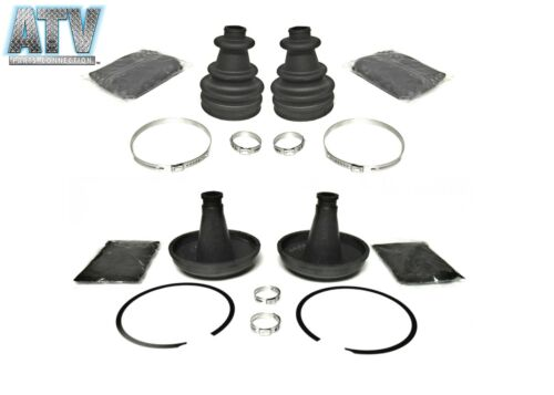 Set of Rear Inner /& Outer CV Boot Kits for Polaris Outlaw 500 IRS 2x4 2006-2007