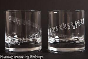 Set-of-2-MUSIC-theme-Whiskey-glasses-tumblers-Gift-boxed