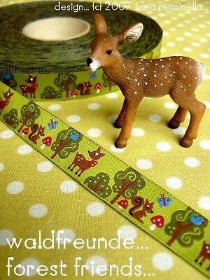Waldfreunde 15mm breit 5m Rolle Webband Design by luzia pimpinella