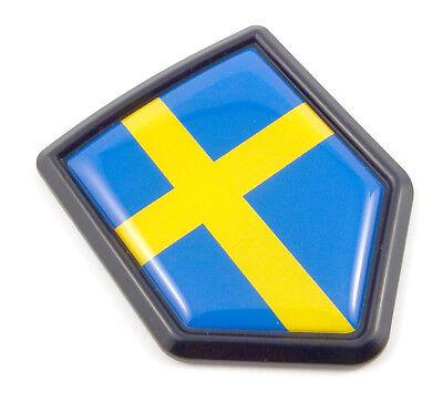 Sweden Swedish flag Chrome Emblem 3D auto Decal sticker car bike boat 5.3