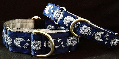 Boomerjacks Moon & Stars Martingale Collar/Greyhound/Whippet & many breeds