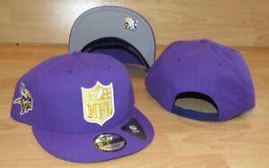 89012685fcea4 Minnesota Vikings NFL Shield Team 9Fifty Flat Brim Snapback Hat Cap ...