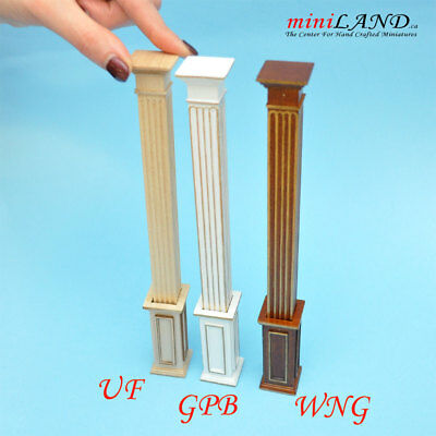 Large Carved wooden wainscoting panels 4pcs for 1:6 dollhouse miniature VM007