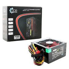 ACE 700W Black ATX Gaming PC PSU Power Supply 120mm Red