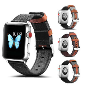 38 42mm Genuine Leather Replace Wrist Strap Band For Apple Watch Series 3 2 1 Ebay