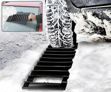 Car 2 in 1 Ice Scraper & Emergency Snow Ice Traction Mat Stuck in Rain Slush Mud