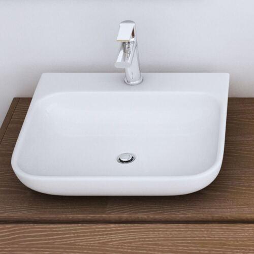 Durovin Bathrooms Wash Basin Stone Resin Range Countertop Wall Hung White
