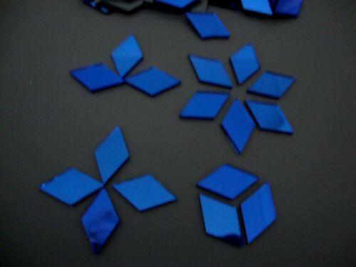 1.6 mm thick 50 # Mosaic Royal Blue mirror glass Tiles Diamond shaped 1x2 cm