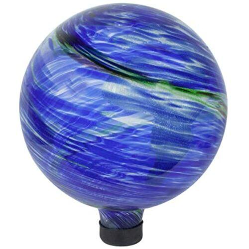 Earth Swirl Balls 8149 10-Inch Glow-in-the-Dark Illuminarie Glass Gazing Globe