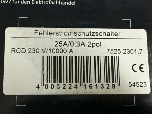 Kopp FI-disjoncteur RCD 2 et 4 broches 16 a 25 a 40 a 63 A 0,03 A 0,3 A FI-Commutateur