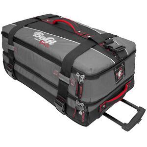 BoGi-Bag-Reisetasche-Reise-Koffer-Trolley-XL-schwarz-Stoff-Schloss-Koffer-Gurte