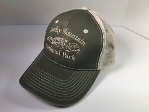 ae83c2bf5c047 Image is loading Rocky-Mountain-National-Park-Adjustable-Strapback-Mesh- Trucker-