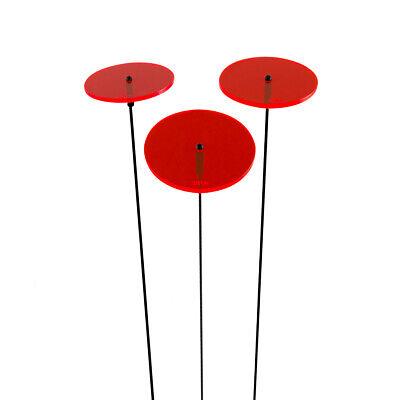 3 Pezzi Sunplay Sole Scatenala Ø 7 Cm Suncatcher Spina Da Giardino Dischi Rosso- Brividi E Dolori