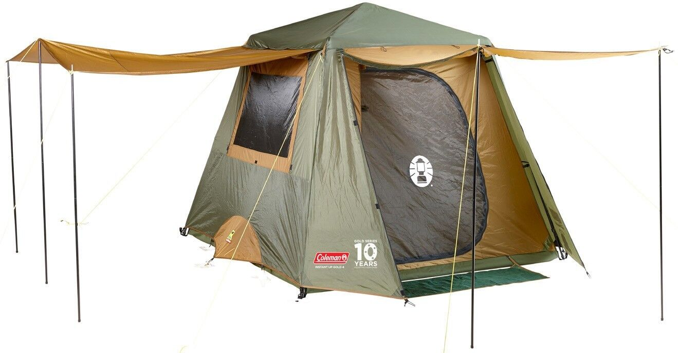 New Coleman Instant Up 4 Person Outdoor Camping Hiking oro oro oro Full Fly Family Tent 54d625