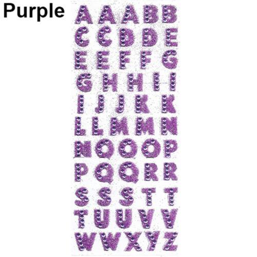 55 un.//Set Cartulina Letra A-Z Alfabeto Brillo AUTO ADHESIVO CRISTALES de bricolaje Adhesivos pour