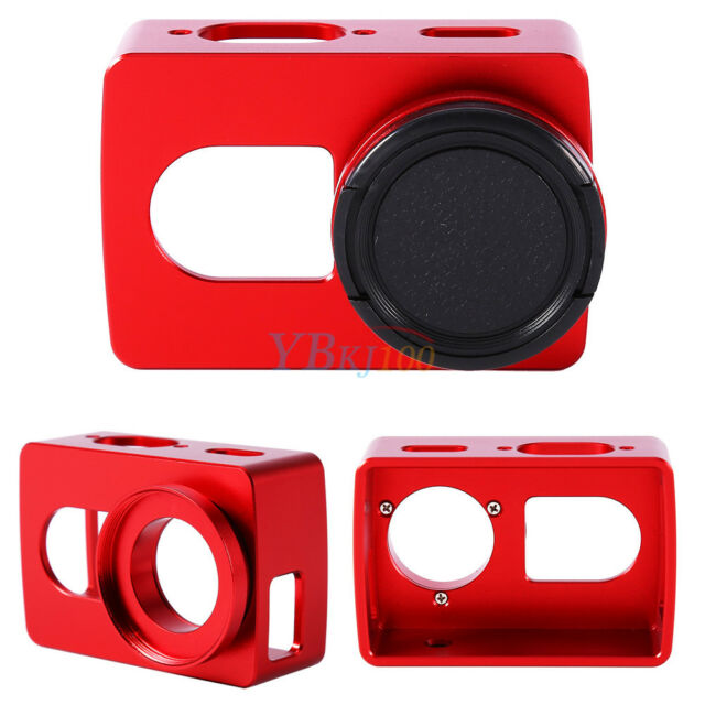 CNC Aluminum Protective Frame Cover With Lens Cover For Xiaomi Yi 4K Camera JS