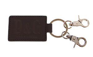 Neuf Avec étiquettes Dolce & Gabbana D&g Cuir Métal Unisexe Anneau Crochet Logo Keychain Keyring-afficher Le Titre D'origine Pour Aider à DigéRer Les Aliments Gras