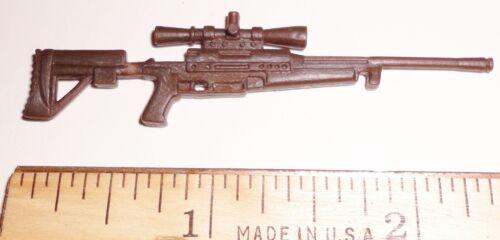 BIN A9  G I JOE Accessory  Brown Sniper Rifle Gun Var Figs 2003 Tunnel Rat