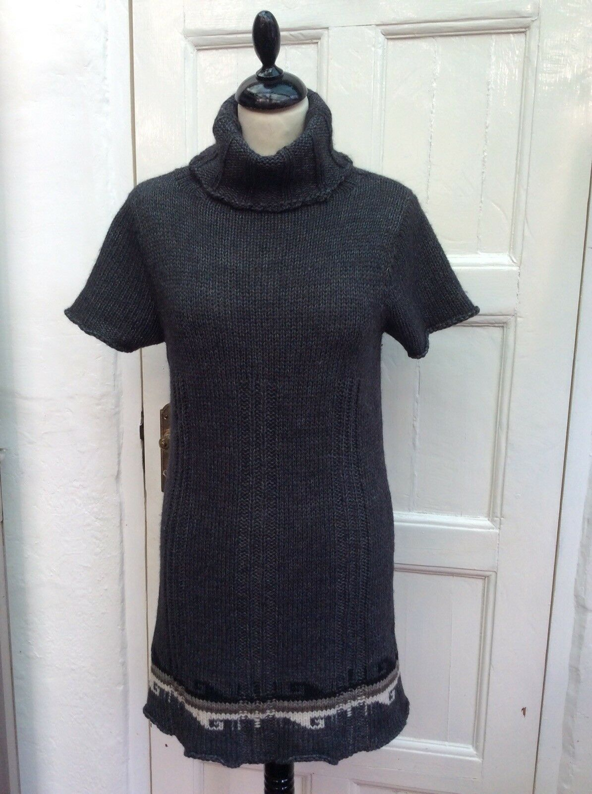 OLD STREET COLLECTION Made In  Alpaca Merino Polo Knitted  Dress S-M