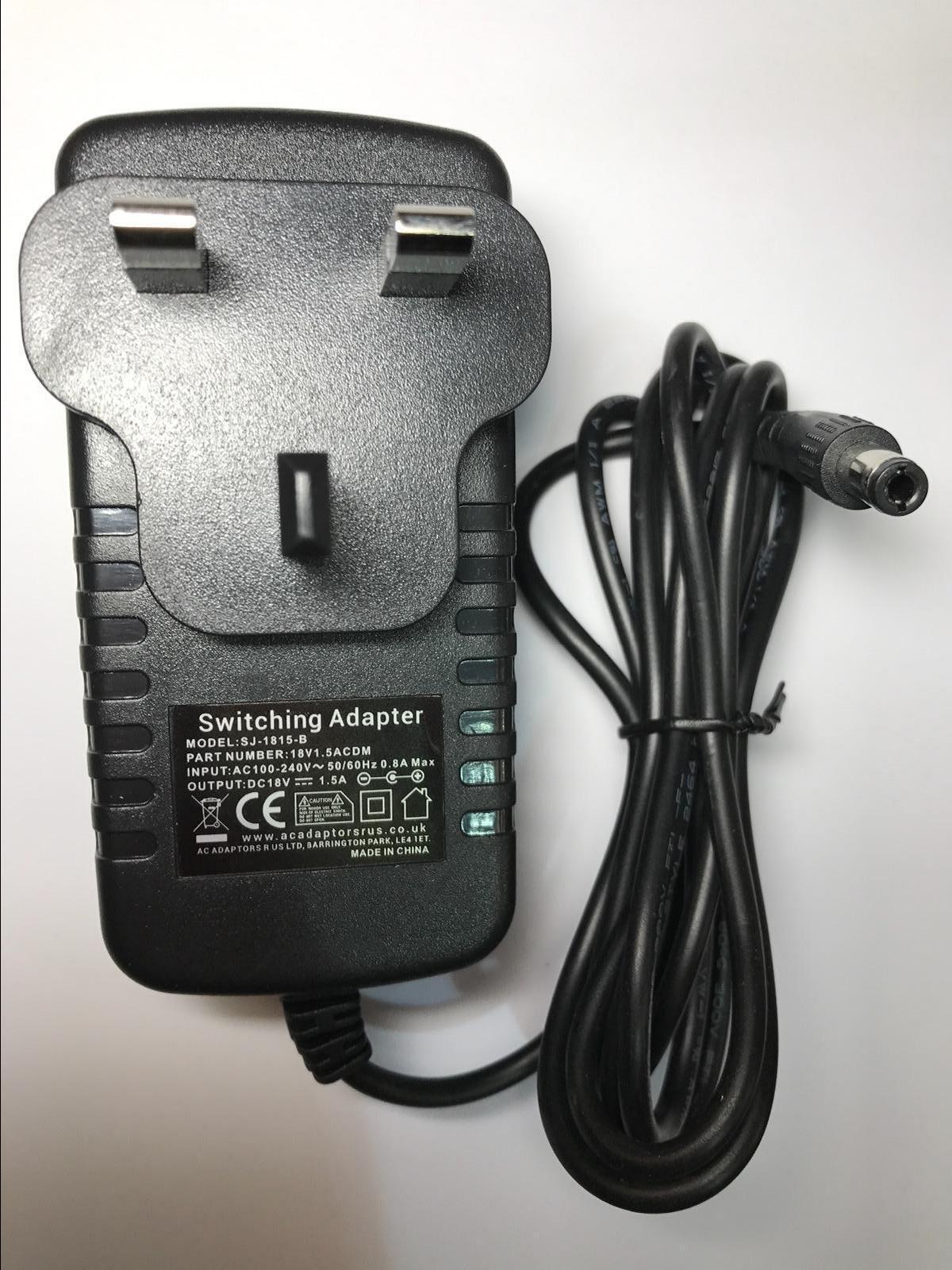 Replacement for 18V 1.0A Lead CordER I.T.E MU18-2180100-C5 P/N30-190-103002B UK