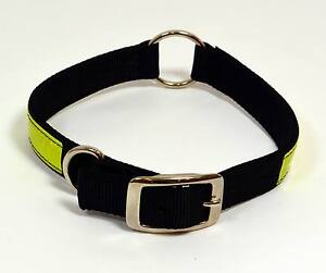 NEW-Black-Nylon-Reflective-Adjustable-Dog-Collar