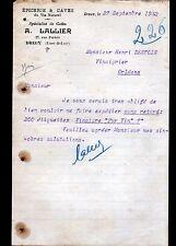 """DREUX (28) EPICERIE & CAVE DU VIN NATUREL """"A. LALLIER"""" en 1932"""