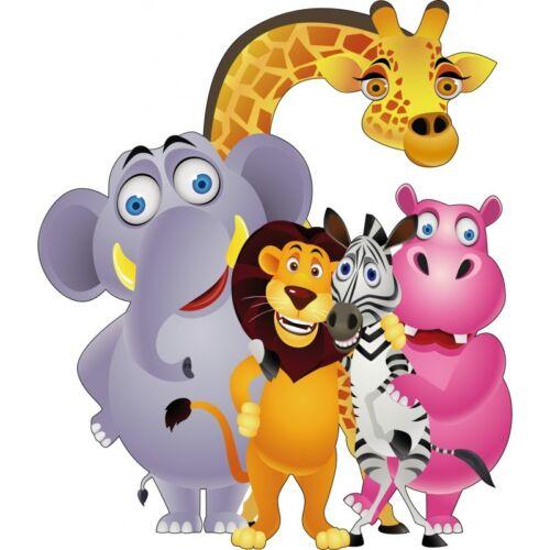 Sticker child jungle animals 823