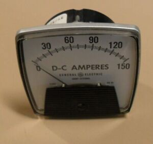 General-Electric-DC-AMPERES-Analog-Panel-Meter-Type-DO-91-Made-in-USA