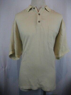 Dutiful Men's Tommy Bahama Ss Gold 100% Silk Golf/polo Casual Shirt Size L Shirts
