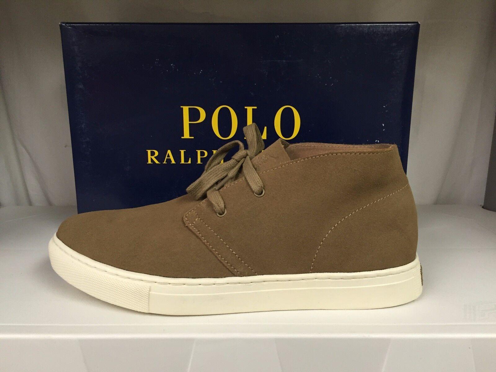 Polo Ralph Lauren Joplin Chukka Men's Suede Fashion Sneakers High Top Trainers
