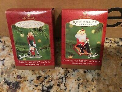"""N 2001 Hallmark Keepsake Ornament /""""Barbie and Kelly on the Ice/"""""""