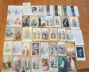 Vintage-1930s-1970s-Christian-Prayer-Holy-Card-Lot-44
