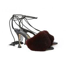 ** ** piel cuero con Borlas Liudmila Sandalias Tacones Zapatos ** ** propiedad de la celebridad