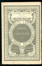 CHIABRERA GABRIELLO LIRICHE UTET 1926 CLASSICI ITALIANI 26 POESIA