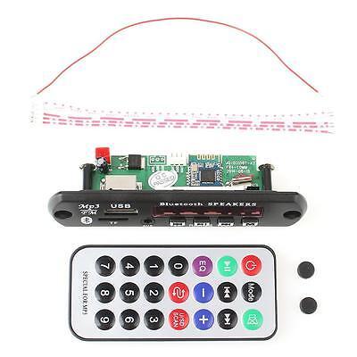1pcs 12V Bluetooth WMA Decoder Board Wireless Audio Module USB TF Radio Car MP3