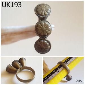 Diligent Antique Kuchi Nomadic Silver Mix Filigree Ring Size 7us #uk193a Antiquities Near Eastern