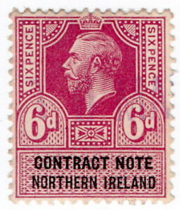 I-B-George-V-Revenue-Contract-Note-Northern-Ireland-6d