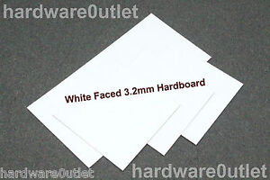 3 2 mm white faced hardboard sheet 600 x 300 mm 24 x 12. Black Bedroom Furniture Sets. Home Design Ideas