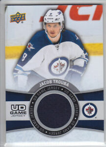 2015-16-UD-SERIES-JACOB-TROUBA-GAME-JERSEY-GAME-USED-GJ-JT-Upper-Deck-Jets