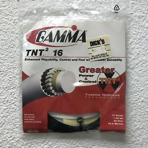 Gamma-TNT2-16G-Tennis-String-Black-16-gauge-40-Feet