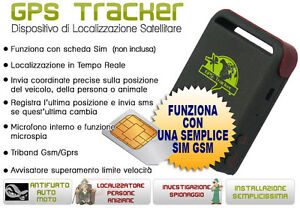 Localizzatore Satellitare Antifurto GPS Tracker Localizzatori GPS per auto moto