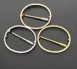 Love-Armband-Bracelet-Schrauben-Schraube-Gold-Rose-u-Silber-Armreif-16-Und-19