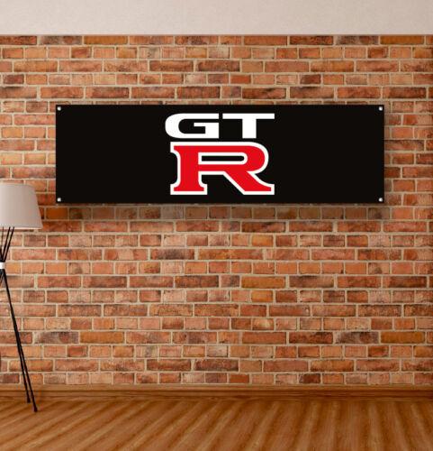 Nissan GT-R Vinyl Banner Sign Garage Workshop Adversting Flag Poster