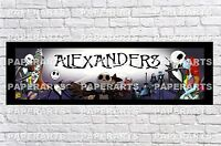 Personalized Nightmare Before Christmas Name Poster With Border Mat Art Banner
