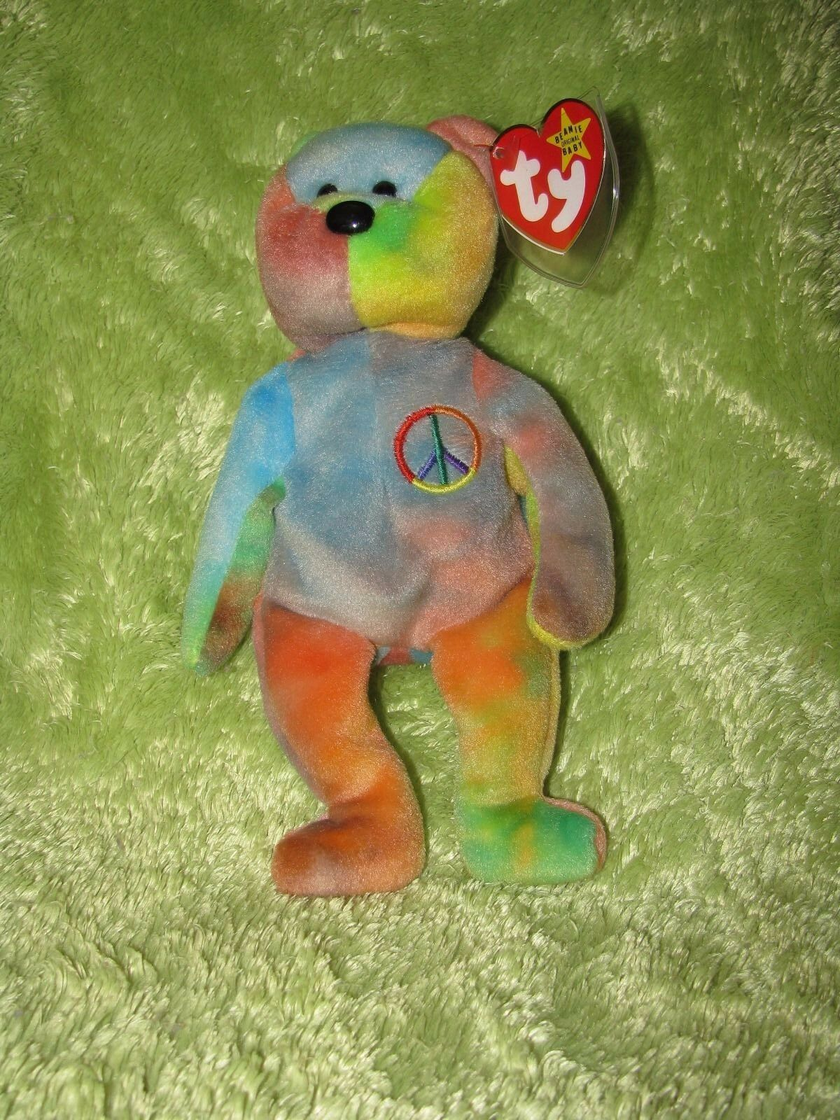 Peace    the Bear Beanie Baby, RETIRED 7aa199