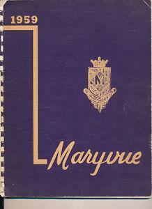 Garfield Heights Oh Marymount High School Yearbook 1959 Ohio Ebay