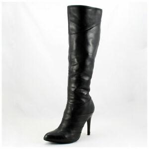 5th Avenue Stiefel Gr. 38 High Heels Lederstiefel schwarz Echtleder (#3472)