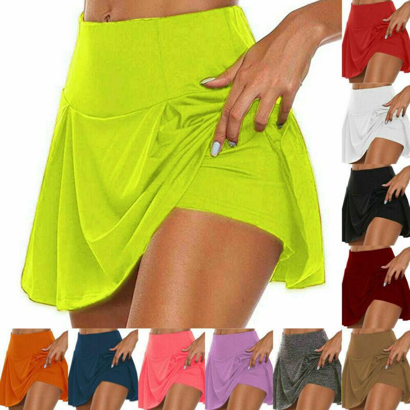 Herbst UK Damen Rock Ausgestellt Damen Tanz Culotte Hose Kurz Party Mini Skort .