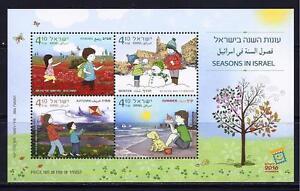 ISRAEL-STAMPS-2016-SEASONS-SHEET-MNH-SUMMER-AUTUMN-WINTER-SPRING