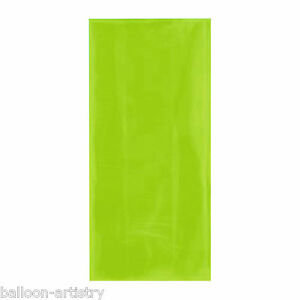 25-KIWI-GREEN-Gift-Loot-Bags-amp-Twist-Ties-party-SMALL